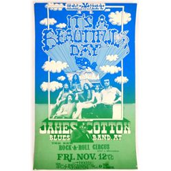 It's A Beautiful Day 1971 Portland, Oregon Concert Poster
