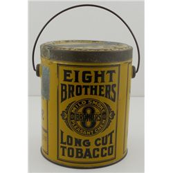 Eight Brothers Long Cut Tobacco Pail