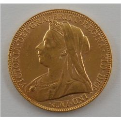 1900 Great Britain Gold Sovereign Coin