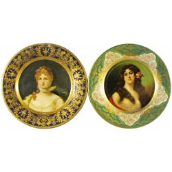 Two Advertising Vienna Art Plates