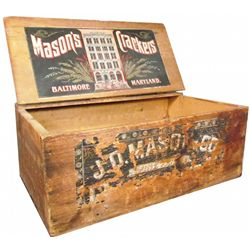 J.D. Mason & Company Wood Cracker Crate
