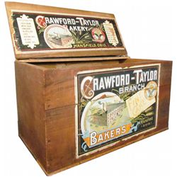 Crawford-Taylor Wood Biscuit Crate
