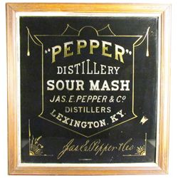 Jas. Pepper & Co. Reverse Glass Sign