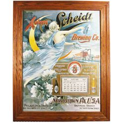 Rare Calendar for Adam Scheidt Brewing Co.
