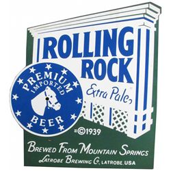 Rolling Rock Porcelain Clock
