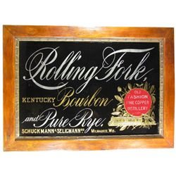 Rolling Fork Kentucky Bourbon Reverse Glass Sign
