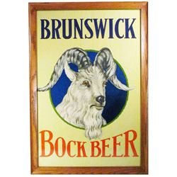Brunswick Bock Beer Paper Sign