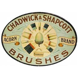 Chadwick & Shapcott Brushes Cardboard Sign