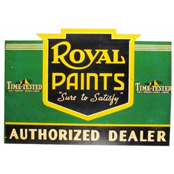 Royal Paints Steel Flange Sign