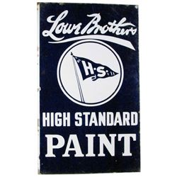 Lowe Brothers Paint Porcelain Flange Sign