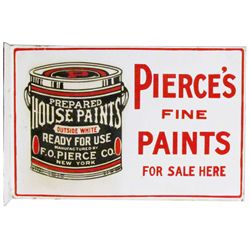 Pierce's Fine Paints Porcelain Flange Sign