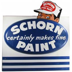 Schorn Paint Dimensional Porcelain Sign