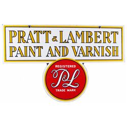 Pratt & Lambert Paint & Varnish Porcelain Sign