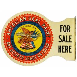 American Seal Paint Steel Flange Sign