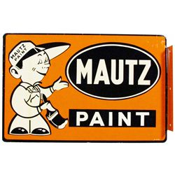 Mautz Paint Enamel over Steel Flange Sign