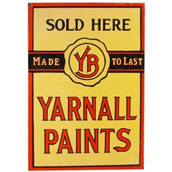 Yarnall Paints Porcelain Flange Sign