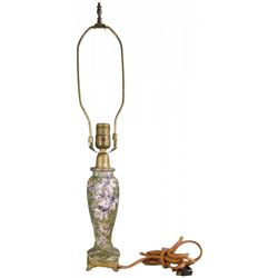 Wave Crest Footed Lamp Base