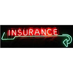 Insurance Directional Neon Sign