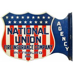 National Union Fire Insurance Co. Tin Flange Sign
