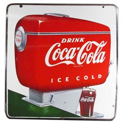 Coca Cola Fountain Dispenser Porcelain Sign