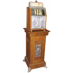 Superior Bell Quarter Slot Machine with Stand