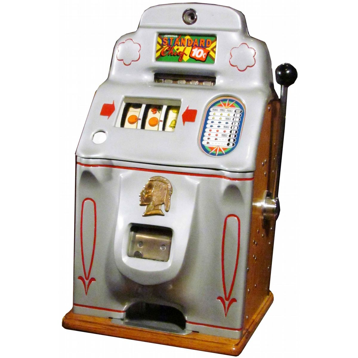 Jennings standard chief slot machine taking a gamble quotes