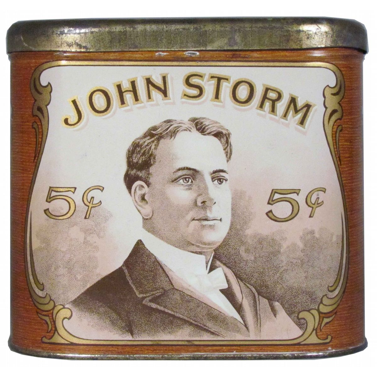 John Storm 5 Cent Cigar Tin For 50 Cigars