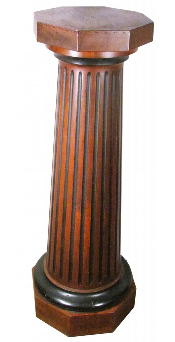Fluted Column Design Cherry Wood Fern Stand