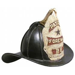 Leather Fire Helmet with High Eagle Finial