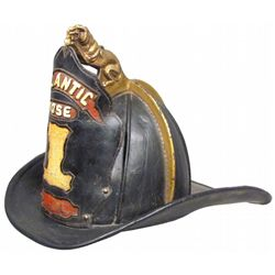 Migeod Leather Fire Helmet with Lion Finial