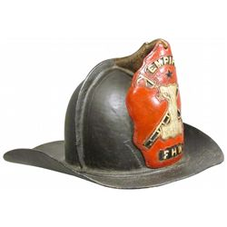 Wilson Leather Fire Helmet with Leather Eagle Finial