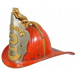 Rare Lion Finial Cairns Leather Fire Helmet