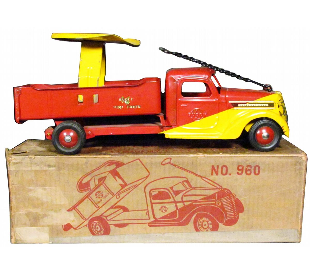 Buddy-L # 960 Saddle Dump Truck Toy