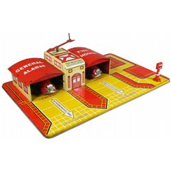 Louis Marx Tin Fire House Toy