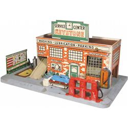 1940's Keystone Service Center Station Toy