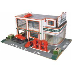 1940's Keystone Deluxe Service Station Toy