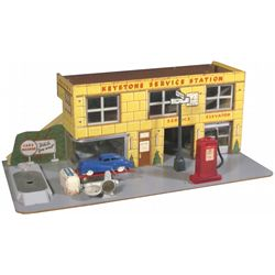 1940's Keystone Service Station Toy