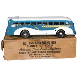 1940's Buddy-L Pressed Steel Greyhound Toy Bus