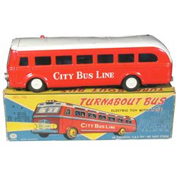 G.B.C. Toys Japanese Made City Line Tin Toy Bus