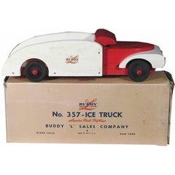 Buddy-L Wood No. 357 Toy Ice Truck