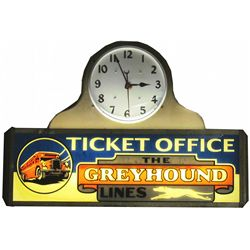 Greyhound Lines Ticket Office Light Up Sign