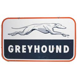 Greyhound Two Sided Porcelain Sign