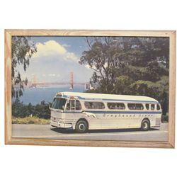 1950's Greyhound Lines Travel Print