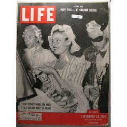 September 1951 Life Magazine; Gene Tierney, Pope Pius