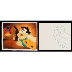 Upset Orignial Cel Production Fred Drawing Flintstones