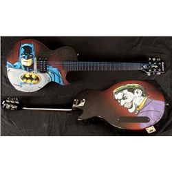 Duerrstein Orig Painted Batman / Joker Superhero Guitar
