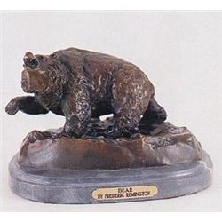 Bear Bronze Sculpture by Frederick Remington