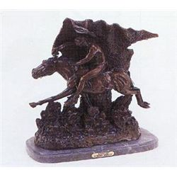 Horsethief Bronze Sculpture by FrederPic Remington.
