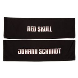 "Pair of director's chair backs: ""Red Skull"" and ""Johann Schmidt"""