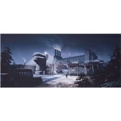 Collection of concept/production artwork of exterior scenes: Hydra Factory, World Expo & many others